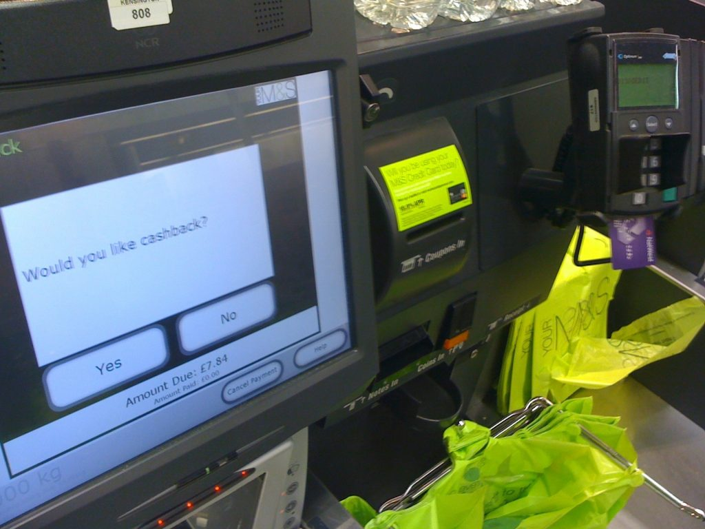 M&S Self checkout